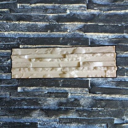 Silicone stamp, Stacked linear stamp, Stacked slate stone, Stamped concrete, Narrow stone pattern, verticalstamps.com, SYDNEY, wall, fireplace