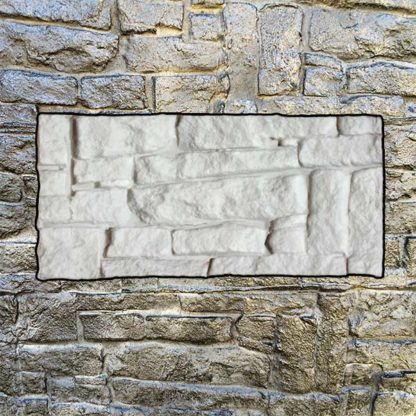 Silicone stamp, Stacked stamp, Stacked rock stone, Stamped concrete, Rock stone pattern, verticalstamps.com, wall, fireplace, BOSTON II, Rock texture, BOSTON I,