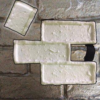 Silicone stamp, Brick stamp, Half brick stamp, Stamped concrete, Brick pattern, verticalstamps.com
