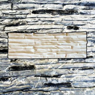 Silicone stamp, Stacked stamp, Stacked slate stone, Stamped concrete, Narrow stone pattern, verticalstamps.com, FLORENCE, wall, fireplace