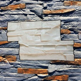 Silicone stamp, Stacked stamp, Stacked slate stone, Stamped concrete, Veener pattern, verticalstamps.com, wall, SEATTLE, fireplace