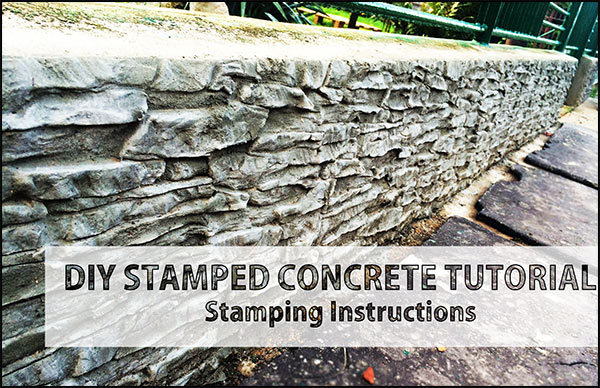 DIY Tutorial For Stamped Concrete