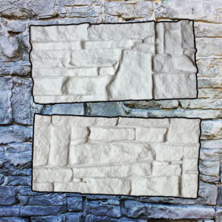 Rustic rock southern ledgestone silicone stamps for vertical stamped concrete