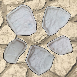 Vertical stamped concrete single stone SET
